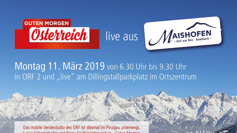 Guten Morgen österreich Live Aus Maishofen Maishofen Ris